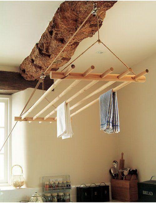 Оригинальные вещи, сделанные из дерева (23 фото) Сушилка для белья
