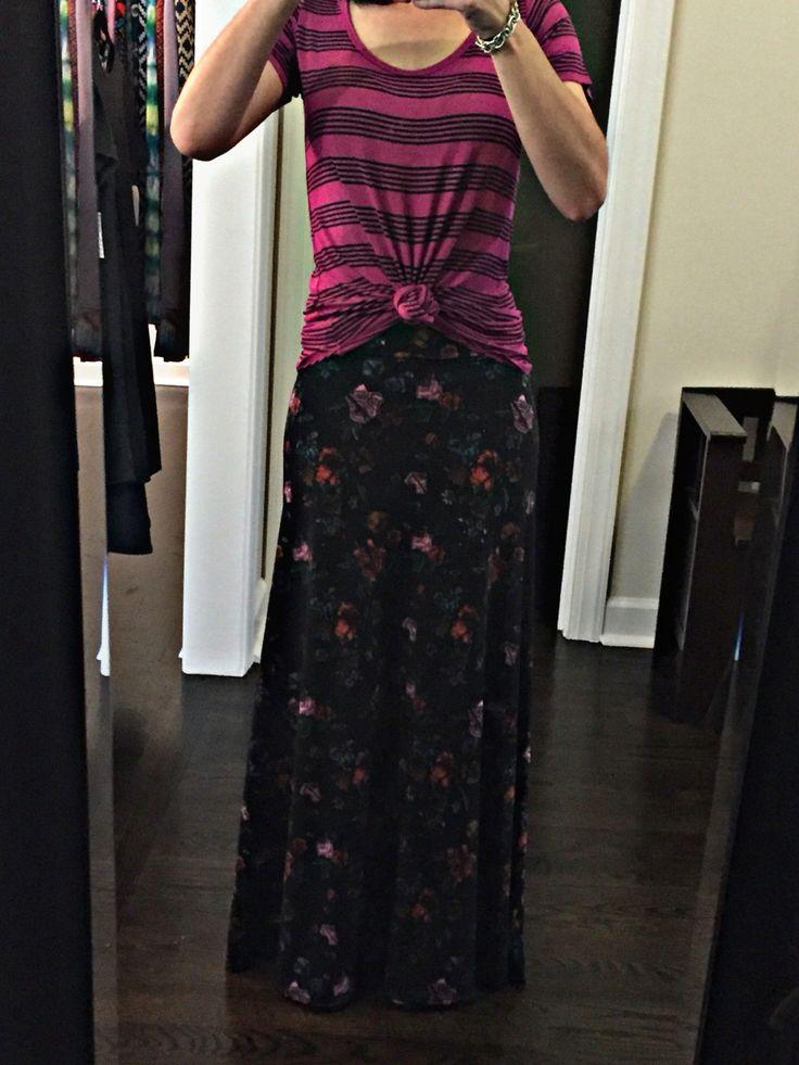 Lularoe Maxi skirt and classic tee