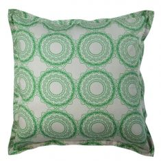 Cushion cover in origami moss on grey