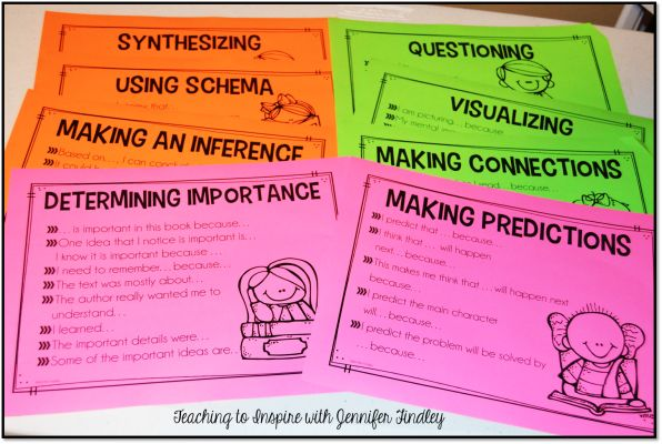 Sentence Stems for Comprehension Strategies Free! - Teaching to Inspire with Jennifer Findley