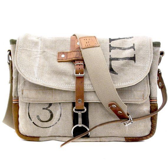 Upcycled Messenger Bag....