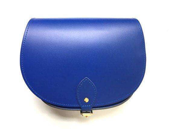 Cobalt Blue Leather Saddle Bag  Handmade In Uk  Blue Saddle
