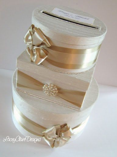 Wedding Card Box, Gift Box, Bling Card Box, Rhinestone Money Holder  - Custom Made. $139.00, via Etsy.