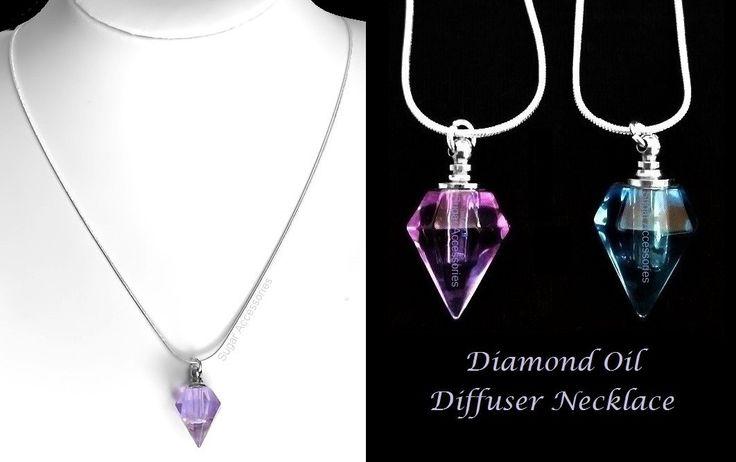 Enjoy Aromatherapy whenever and wherever you like!  Get the benefit wherever you go with this lovely hand crafted diamond shaped aromatherapy pendant on a sterling silver chain.