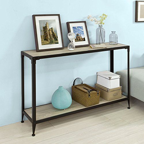 Modern design console table hall table is great value for money. A diverse and contemporary product, would be suitable for any room. One shelf on the bottom provides spacious storage and display space. Anti-slip mats on the bottom of the 4 legs to protect the floor from scratches. Product... more details available at https://furniture.bestselleroutlets.com/living-room-furniture/tables/living-room-table-sets/product-review-for-haotian-fsb08-sch-console-sofa-table-hall-table-wi
