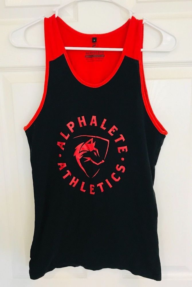 0ff6c1e269cd0b ALPHALETE ATHLETICS Men s Small Sleeveless Tank Red Black - AMAZING  Condition!  fashion