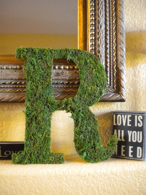 letters covered in moss Add a touch of whimsy to your big day with these floating moss letters, perfect for a romantic or woodland inspired wedding i came up with the idea of displaying.