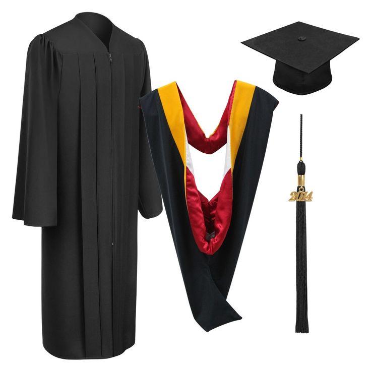 Birrete, toga, borla y muceta negro mate de licenciatura