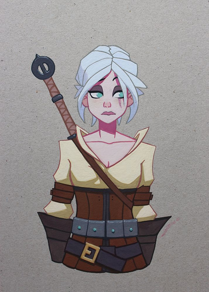 Ciri from The Withcer universe. by Icecoldart