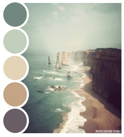 BEACH PALETTE - color palette  Pastel Feather Studio
