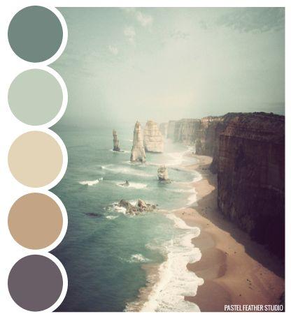 BEACH PALETTE - color palette  Pastel Feather Studio