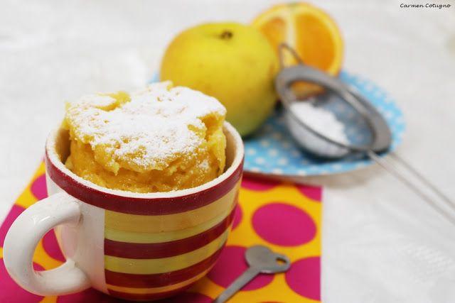 Carmy in cucina, food blogger, ricette di cucina facili e veloci, Napoli: Torta in tazza alla frutta, con mele e arance