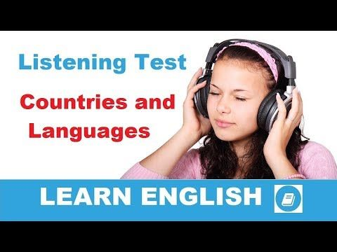 Countries and Languages - Elementary Listening Test