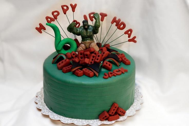 Exploding Incredible Hulk Cake