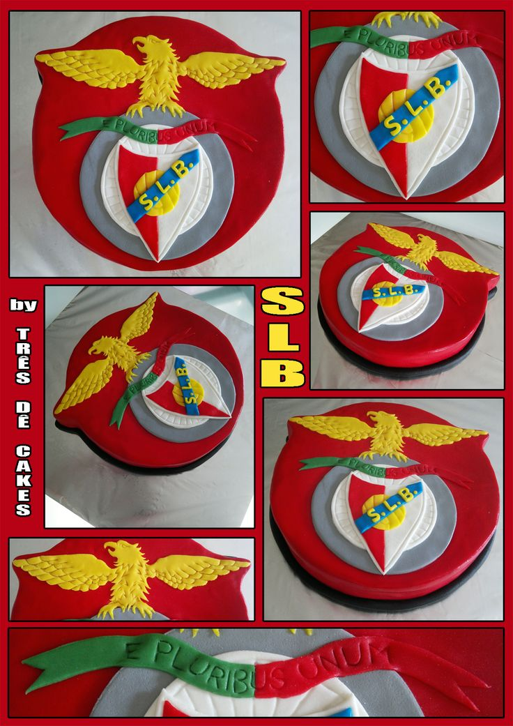"S.L.B. (Sport Lisboa e Benfica) (Art in Cake by ""Três Dê Cakes"")"