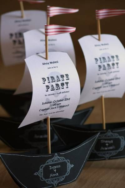 Pirate Party Invitations