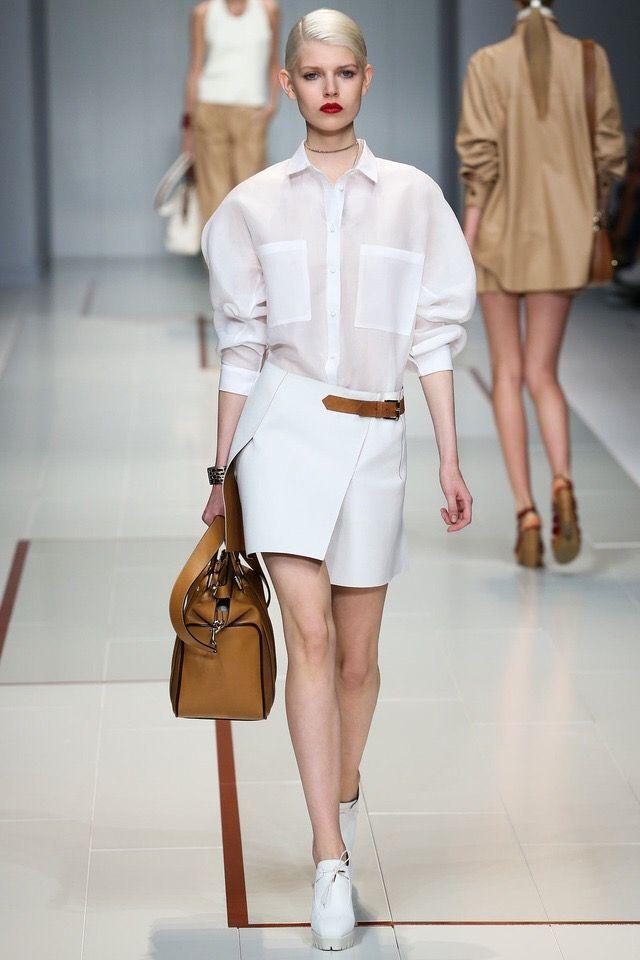 Trussardi #MFW Perfect white