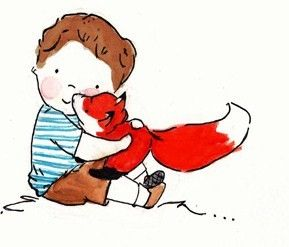 I love all the fox art in this shop! Fox and His Boy Archival Print Brown Hair by ohhellodear on Etsy, $15.00