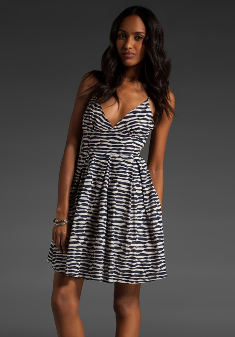 Blanche Abstract Zebra Dress