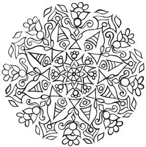look up mandala coloring pages wow cant wait to do this over - Art Therapy Coloring Pages Mandala