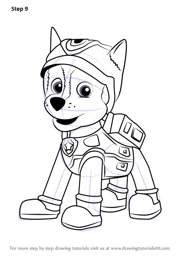 Learn How To Draw Super Spy Chase From Paw Patrol Paw Patrol Step By Step Drawing Tutorials Paw Patrol Coloring Paw Patrol Coloring Pages Chase Paw Patrol