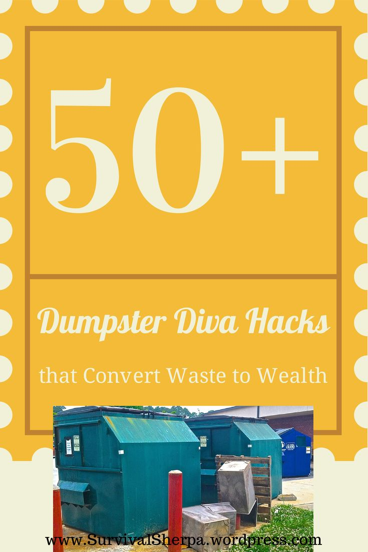 50+ Dumpster Diva Hacks that Convert Waste to Wealth | Survival Sherpa