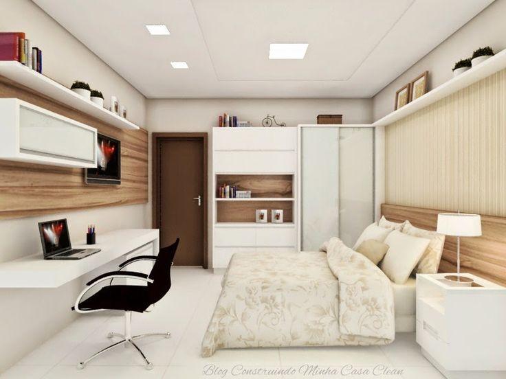 Construindo Minha Casa Clean: Quartos Lindos com Home Office Juntos!