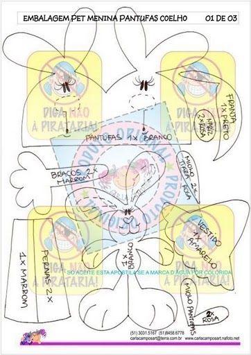 Moldes de Amanda: FOFUCHAS PLANAS con moldes (de la web)