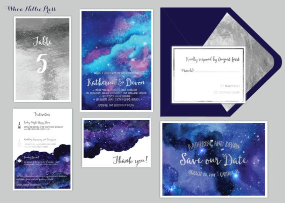 Star/Night Sky Wedding Invitations  Starry by WhoaNelliePress
