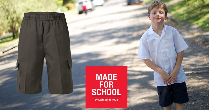 Heading back to school means routines and time management.  Stay ahead of the game with our Phillip Cargo Shorts, made from teflon coated soft Gabardine they resist grime and creases making laundry a breeze!