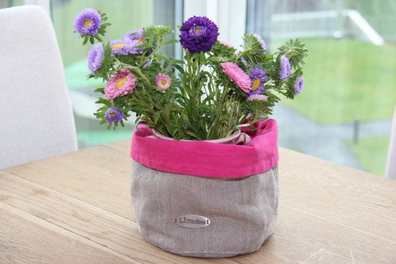 Linen basket. by lininline on Etsy