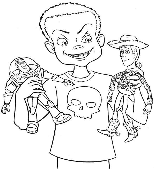 sid toy story coloring pages