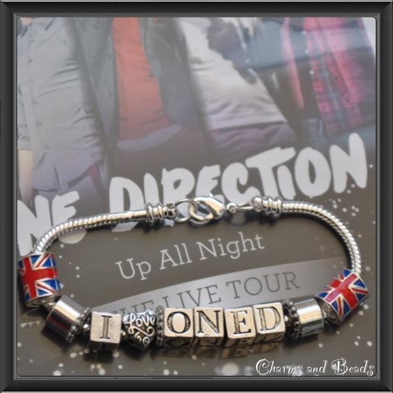 Il love One Direction bracelet for all di CHARMSandBEADSsol, $13.00