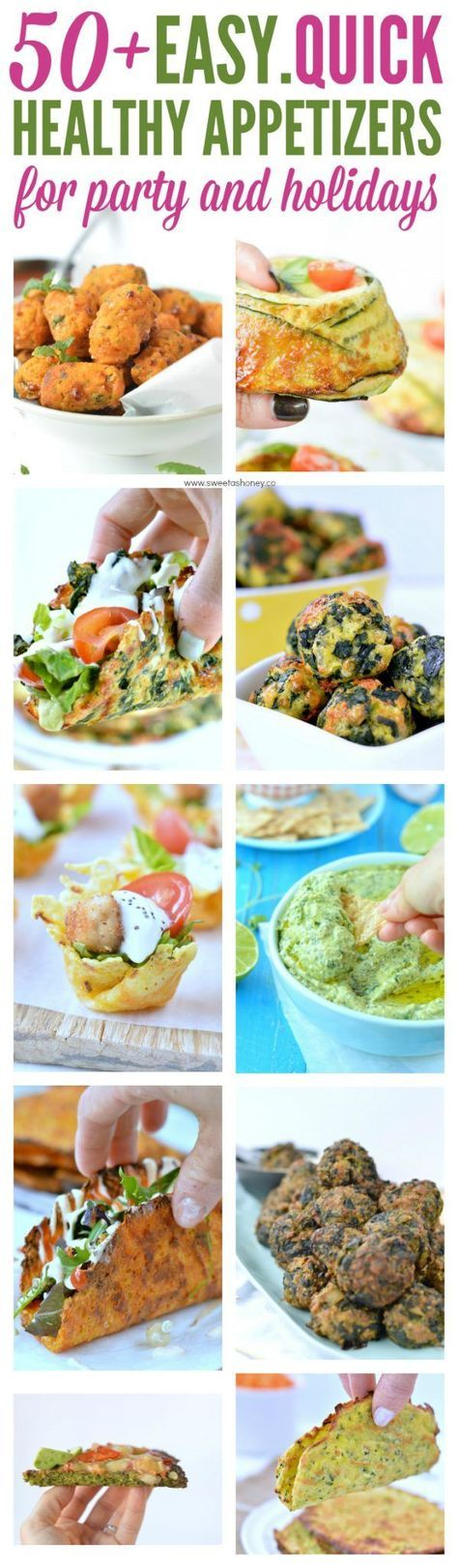 Easy Healthy Appetizers for Party and Holidays to feed a crowd. Perfect for Christmas and Thanksgiving. #christmasappetizers #birthdayfood #partyfood