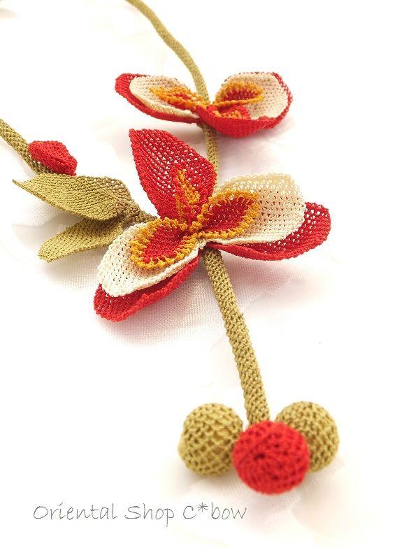 シルクイーネオヤネックレス:蘭  トルコオヤ・雑貨通販店C*bow