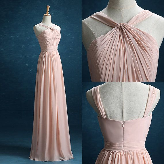 2016 Blush Bridesmaid dress Long Double Straps by harsuccthing