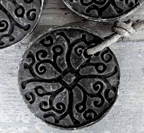 Zeep  Rond Batik Zwart