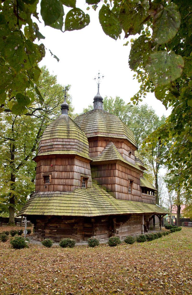 Chotyniec wooden Greek Catholic Tserkva from 1615. Chotyniec-Poland ✿ (UNESCO World Heritage site)