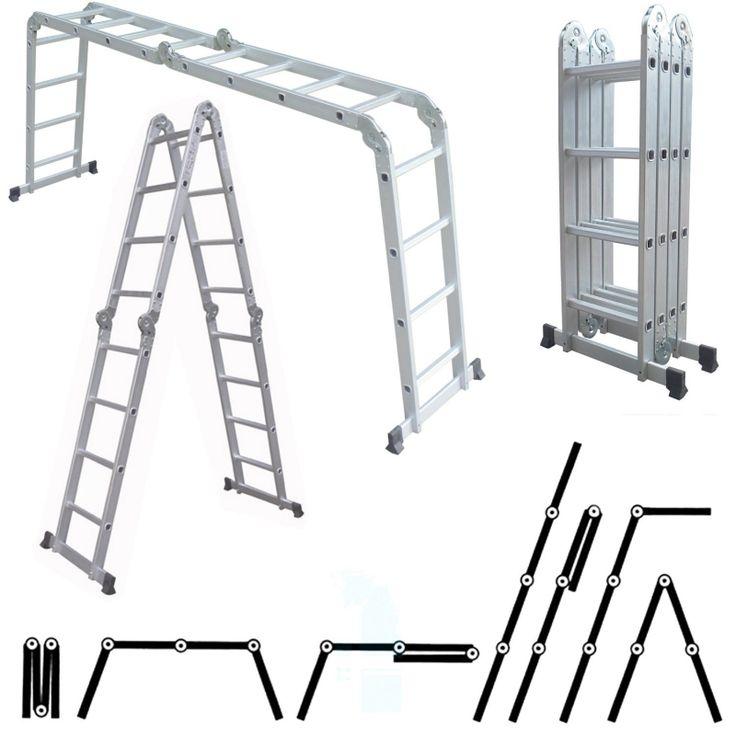 échelle multi-positions, qui fait échelle, échafaudage, escabeau à convenance. facile à transporter. #Location Echelle tout en un escabeau et echaffaudage #Hédé (35630)_www.placedelaloc.com