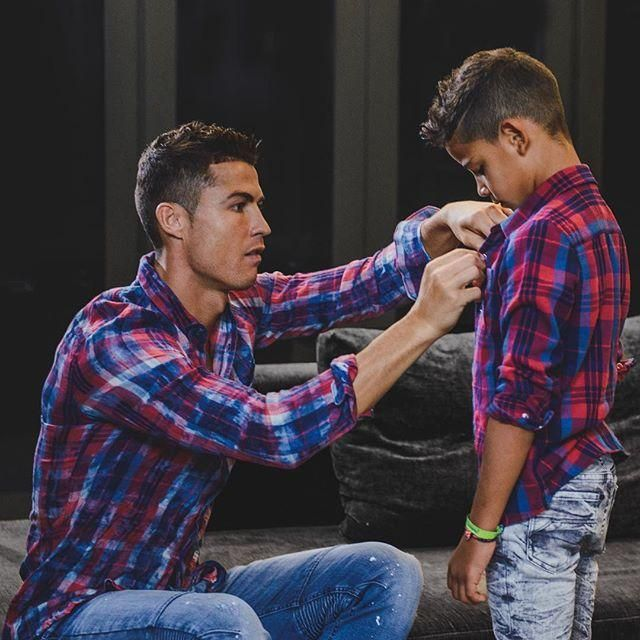 Cristiano Ronaldo and his son matching their CR7's ... 1