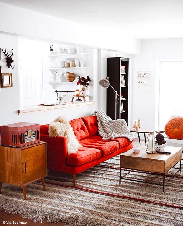Hello orange couch!