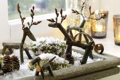 Bild Bastelideen für den Herbst - Basteln & Deko & Co. - Kleiner Aufwand, große Wirkung: ein selbst gestalteter Tierpark aus kleinen Ästchen.Foto: djd/Bosch - basteln-mit-zweigen.jpg - von Frank