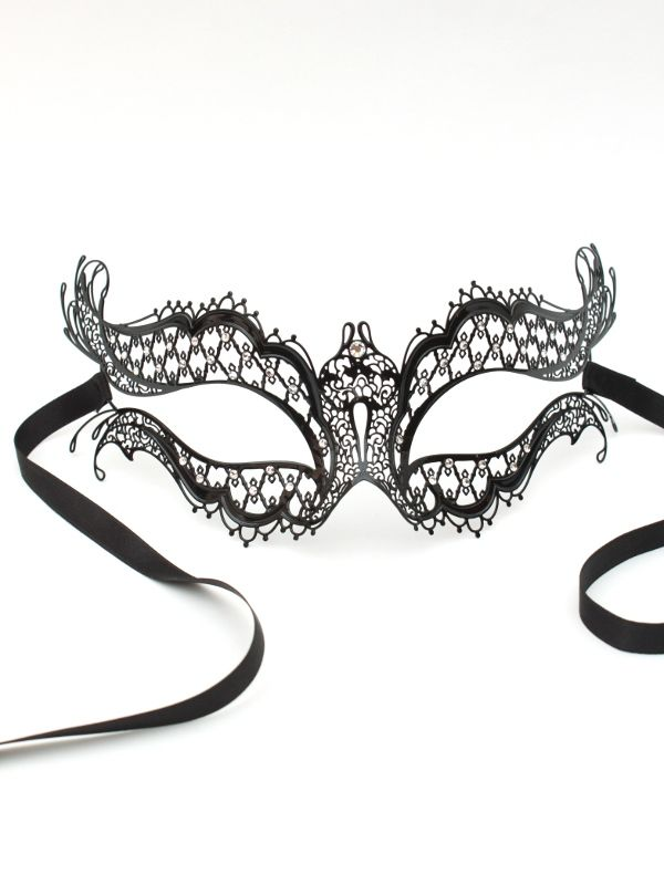 crystal genuine venetian metal filigree lace masquerade ball mask