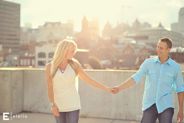 urban engagement photos #summer #sunlight #engagement #outfitidea