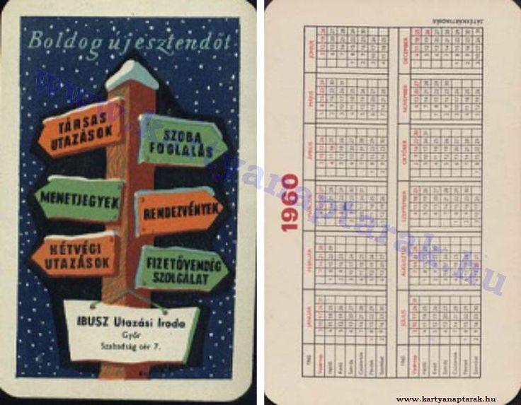 1960 - 1960_0098 - Régi magyar kártyanaptárak