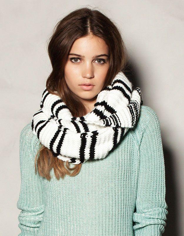 Bufandas redondas semigruesas, tendencia de invierno