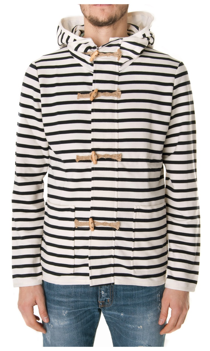 Eleven Paris Black striped sweatshirt - #Menswear  www.sansovinomoda.it
