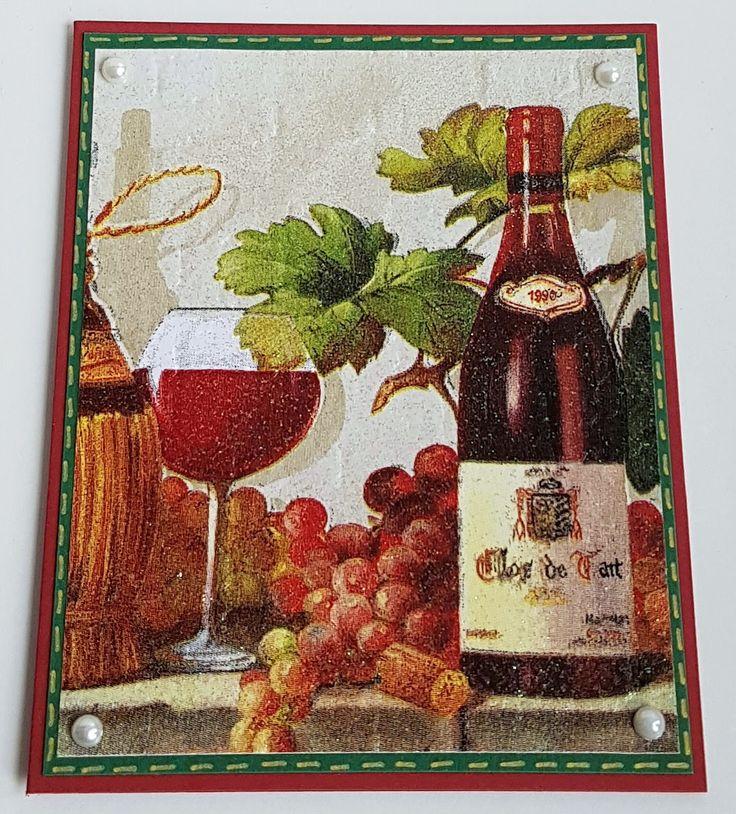 Napkin-Technique, Wine