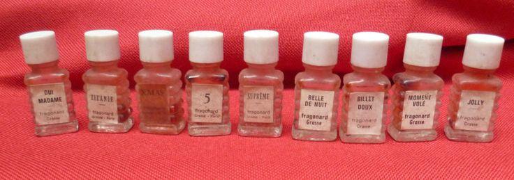 ancienne 9 miniature parfum de Fragonard - Grasse  - vintage perfume botlle