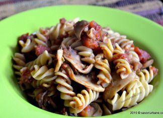 Paste cu ciuperci si rosii Dieta Rina